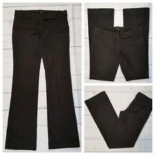 "Zara Basics 8 Dark Brown Slacks Pants 4 Pockets Cotton Stretch 32"" W 33"" Inseam"