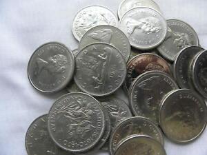 21 CANADA 1.00  COINS   QUEEN ELIZABETH II  NICKEL