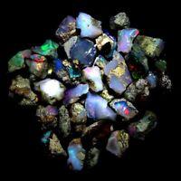 25.00Cts. Lot Natural Multi Flash Ethiopian Opal Rough Welo Fire Opal Gemstones