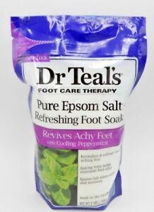 6PK Dr Teals Epsom Salt Foot Soak Revitalize & Refresh 2 lb 811068010890YN
