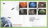 G.B. 2012 Space Science set on Royal Mail First Day Cover, Gaerwen