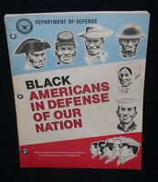 Black Americans In Defense Of Our Nation~Softcover, Dept.Of Defense, 1982