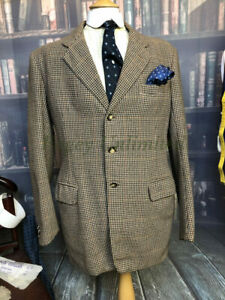 "1957 Dated Bernard Weatherill Savile Row Bespoke Heavy Tweed Jacket 46""/117cm..."