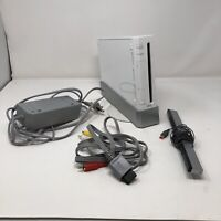 Nintendo Wii Complete RVL-001 Console And Cables Complete White TESTED