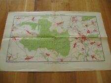 alte Landkarte Karte des Colditzer Waldes Sachsen um 1946/48