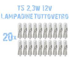 N° 20 Lampade T5 Zoccolo Vetro 2,3W 12V Cruscotto e Strumentazione Ricambi 2A1A
