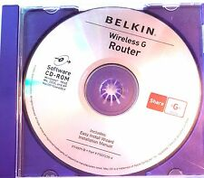 Handy Replacement Belkin Wireless G Router Install Disk CD Media Only
