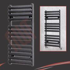 """500mm(w) x 1200mm(h) """"Brecon"""" Tubo oval Negro radiador toallero - 600W"""