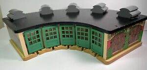 Thomas Friends Wooden Roundhouse Train Tidmouth Shed Garden Doors No Turntable S