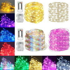 1-10M LED String Lights Fairy With Remote 8 Modes For Indoor Outdoor Decor RK