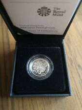 More details for 2008 silver proof one pound £1 coin - 9.5g