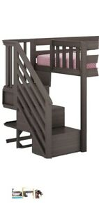 STAIRS ONLY Bunk Bed Wood Low Loft Bed Stairs ONLY !!!Kids Bedroom Gray