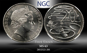 2018 AUSTRALIA 20 CENTS NGC MS63 FINEST KNOWN WORLDWIDE