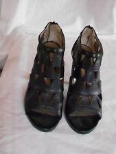 New Direction Women's Black High Heels Size 8 M Open Toe 4 Inch Heel back Zipper