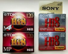 Hi8 Cassette Video Camcorder Tapes, Six tapes, New, TDK, Sony, MP, HMP, 120
