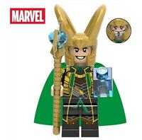 Loki with Teseract Endgame Marvel Minifigure Custom Mini Figure Minifig 66