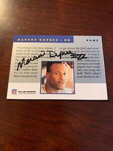 1991 Pro Line Portraits Autographs Marcus Dupree Proline Auto Autograph Rams