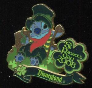 DLR St. Patrick's Day 2008 Stitch LE Disney Pin 59855