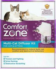 Comfort Zone Multi Cat Calming Diffuser Kit For Cats & Kittens Nib