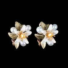 Orange Blossom Clip Earrings - Michael Michaud - Silver Seasons Jewelry