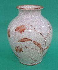 ROSENTHAL Art Deco STOCKMAYER CRACKLE Porcelain RUST CHINESE VINE Crater VASE