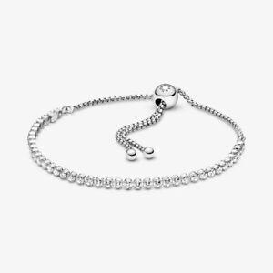 Pandora 599375C01 Schiebe-Tennisarmband Damen Funkelnd Sterling-Silber 23 cm ...