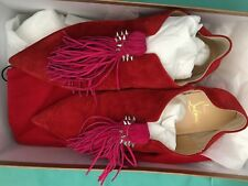 Christian Louboutin Medinana flat beau velours suede shoes 38.5 in box, Italy