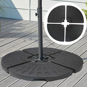 4 Pcs Patio Offset Umbrella Base Fillable Round Cantilever Weight Parasol Stand