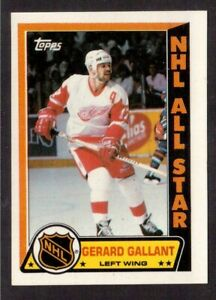 TOPPS 1989-90 STICKERS # 2 GERARD GALLANT, DETROIT RED WINGS !! D5
