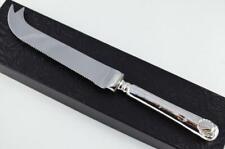 JOHN SANDERSON FANTASTIC SHEFFIELD STERLING SILVER HANDLED CHEESE KNIFE 1912