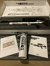 The boring company not a flamethrower! 5 Letter Manual & Extinguisher Elon Musk
