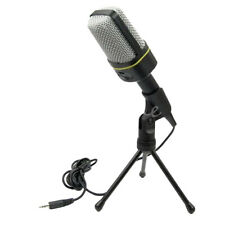3.5mm Condenser Microphone mic with Mount Tripod for Computer Desktop Gaming