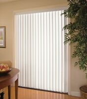 Sliding Glass Door Vertical Blinds White 78 in. W x 84 in. L Light Filtering PVC