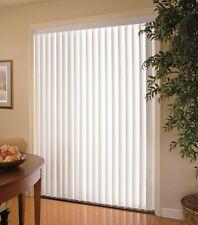 """Sliding Glass Door Vertical Blinds White 78 in W x 84"""" Light Filtering"""