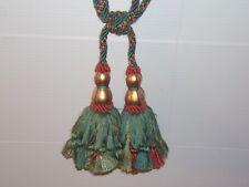 "Brunschwig & Fils,""Ottoman"" drapery tieback, adjustable cord, double 7"" tassel"