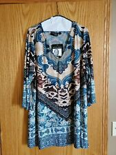 Attitudes By Renee New Never Worn Paisley 3/4 Sleeve Top Plus SIze 3x