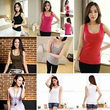 Sexy Ladies Multicolor Long Sleeveless Cotton Tank Top Casual Blouses Tops KK