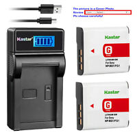 Kastar Battery LCD USB Charger for Sony NP-BG1 Sony Cyber-shot DSC-HX20 Camera