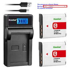 Kastar Battery LCD Charger for Sony NP-BG1 NPFG1 Sony Cyber-shot DSC-H70 Camera