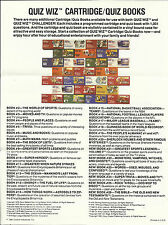 VINTAGE COLECO 1981 QUIZ WIZ CARTRIDGE GAME CATALOGUE - CATALOG