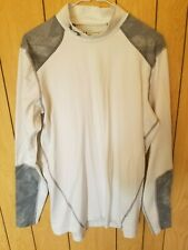 Under Armour Pullover Size L 87% Polyester 13% Elastaine White/Gray Nice