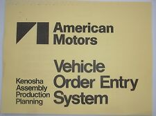 AMC Kenosha factory Production book Spirit AMX Concord SX4 Eagle Limited GT