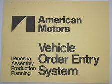 AMC Kenosha factory Production book Spirit AMX Concord SX4 Eagle Limited GT