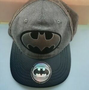 Batman Grey Baseball Cap Classic Official DC Comics Snapback for kids/small