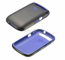 Premium Shell Silicone Cover Case Skin for Blackberry Curve 9320 - Black/Purple