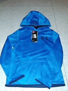 NWT UNDER ARMOUR BOYS BLUE CAMO camouflage PULLOVER HOODIE HOODY