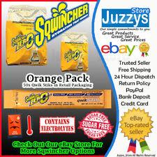 Genuine Sqwincher Zero Qwik STIKS 1 Pack of 50 Satchets - 8 Flavours Electrolyte Orange