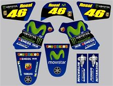 Yamaha PW50 Rossi latest style graphic / decal kit Personalised FREE UK SHIPPING