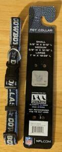 "Dallas Cowboys Pet Collar Medium 5/8"" Wide 12""-18"" Long"