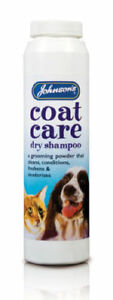Johnsons Coat Care Dry Shampoo for Cats & Dogs 85G,powder,easy to use,freshens.